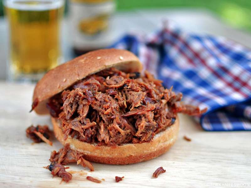 Smoked Barbecue Pulled Pork Sandwiches | Fork Knife Swoon