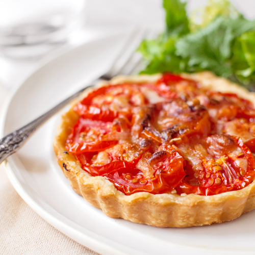 Tomato, Onion & Goat Cheese Tarts - Fork Knife Swoon