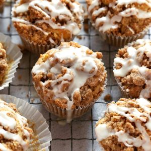 Cinnamon Streusel Apple Muffins via forkknifeswoon.com