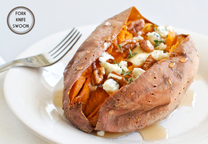 Loaded Baked Sweet Potatoes - Fork Knife Swoon