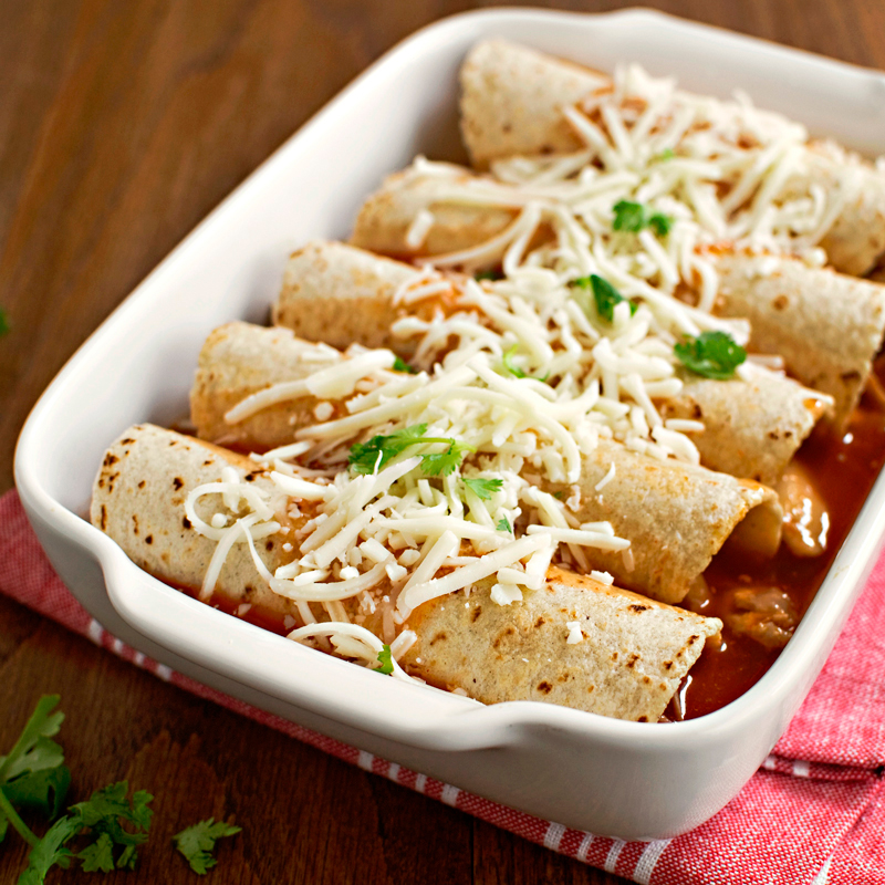 Simple Chicken Enchiladas - Fork Knife Swoon