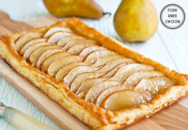 Ginger Pear Puff-Pastry Tart