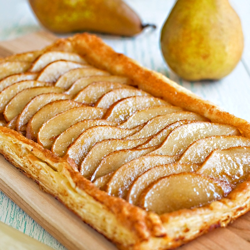 Ginger Pear Puff-Pastry Tart - Fork Knife Swoon