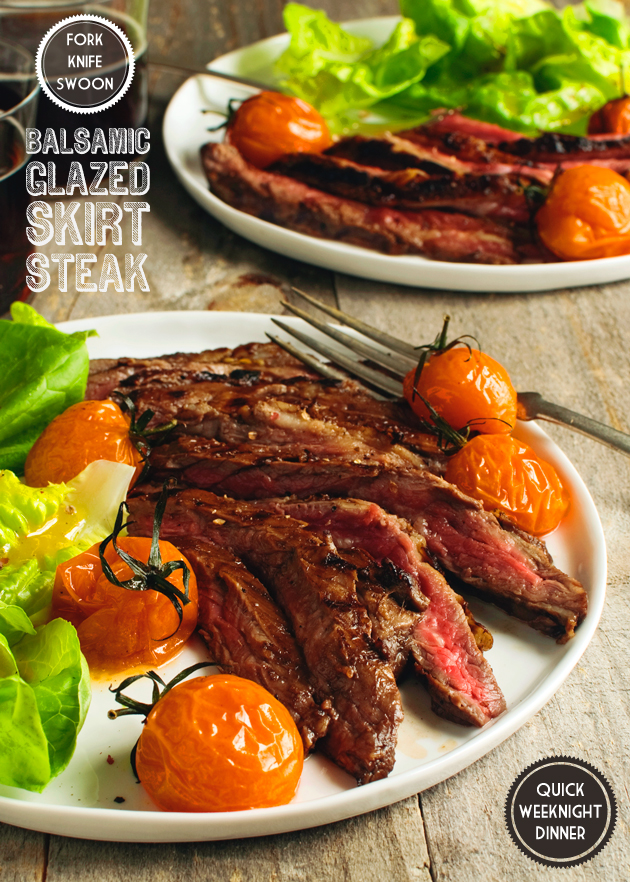 Balsamic Glazed Skirt Steak | Fork Knife Swoon