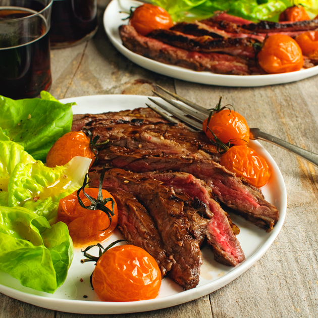 Balsamic Glazed Skirt Steak - Fork Knife Swoon