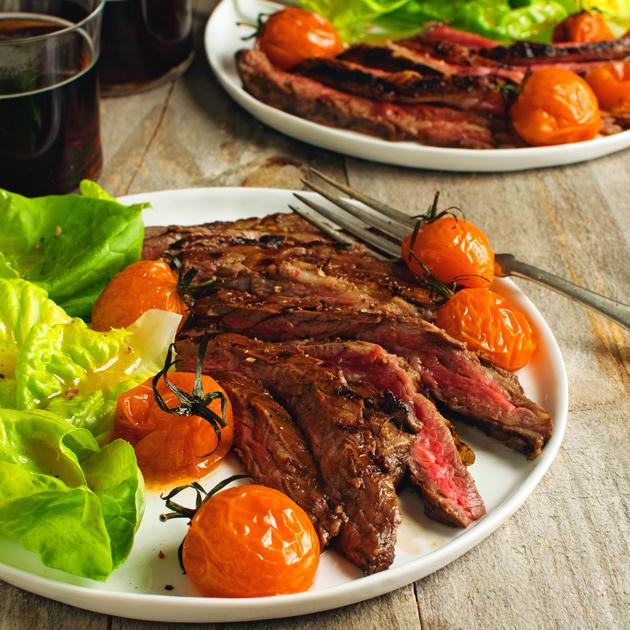 Balsamic Glazed Skirt Steak - Fork Knife Swoon