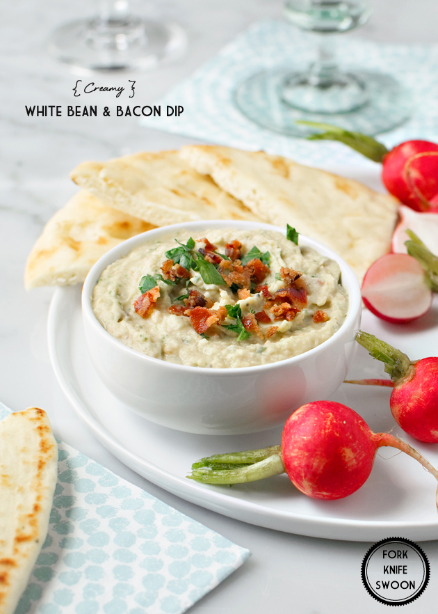 Creamy White Bean and Bacon Dip