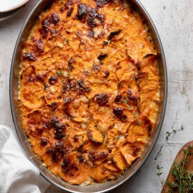 sweet potato gratin via forkknifeswoon.com