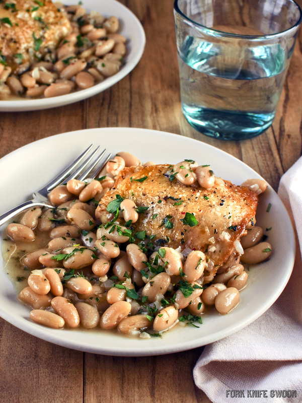 Braised Chicken with Cannellini Beans and Fresh Herbs