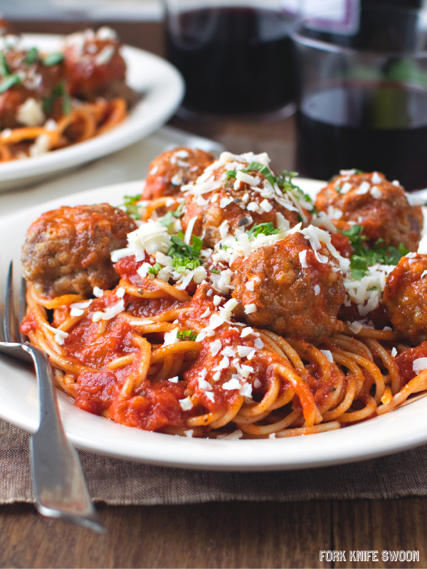 Loaded Italian Style Turkey Meatballs