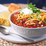 Lighter Slow Cooker Tukey Chili