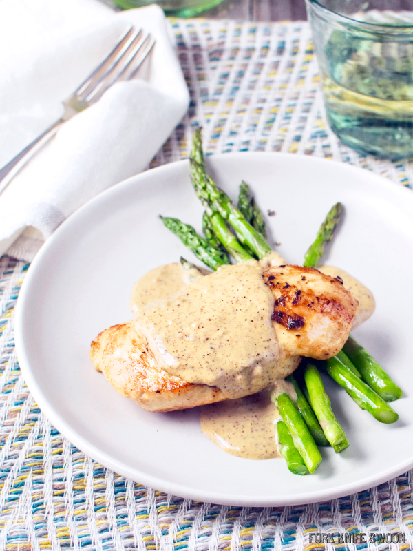 Chicken with a Quick Mustard Cream Sauce | Fork Knife Swoon