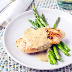 Chicken with a Mustard Cream Sauce | Fork Knife Swoon