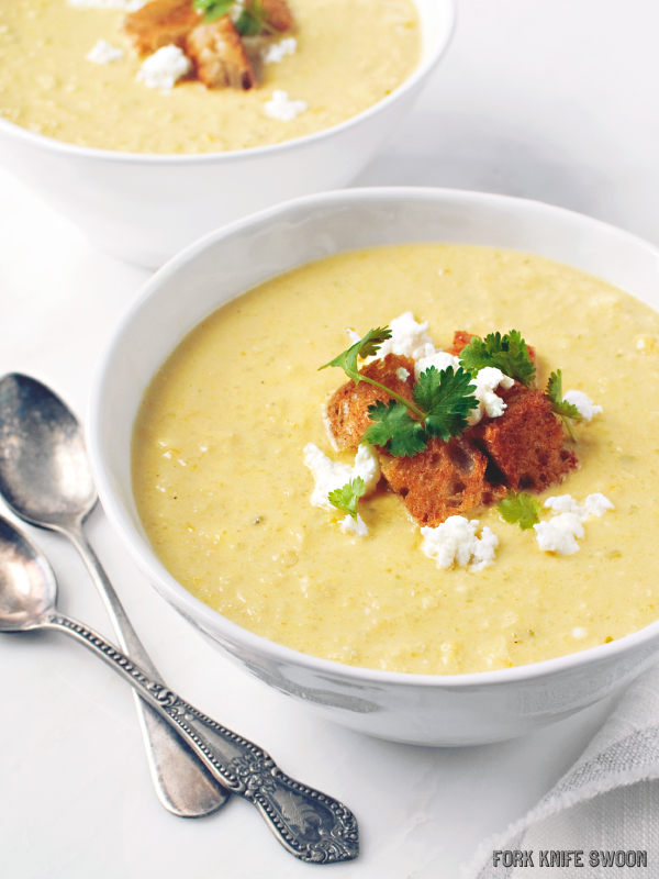 Spicy Corn and Pepper Bisque