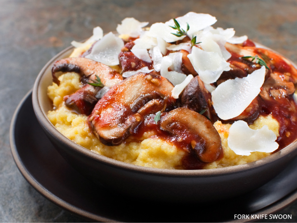 Creamy Parmesan Polenta with Mushrooms | Fork Knife Swoon