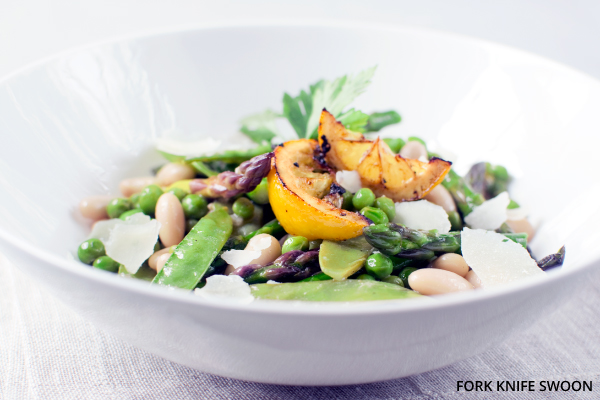 Spring Vegetable Salad with White Beans and Parmesan | Fork Knife Swoon