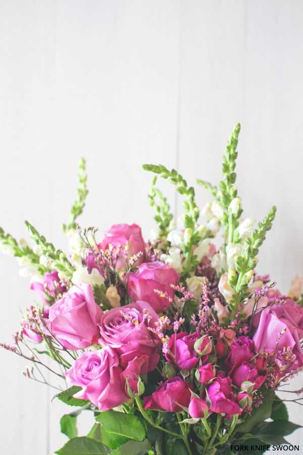 Pink Spring Flowers | Fork Knife Swoon