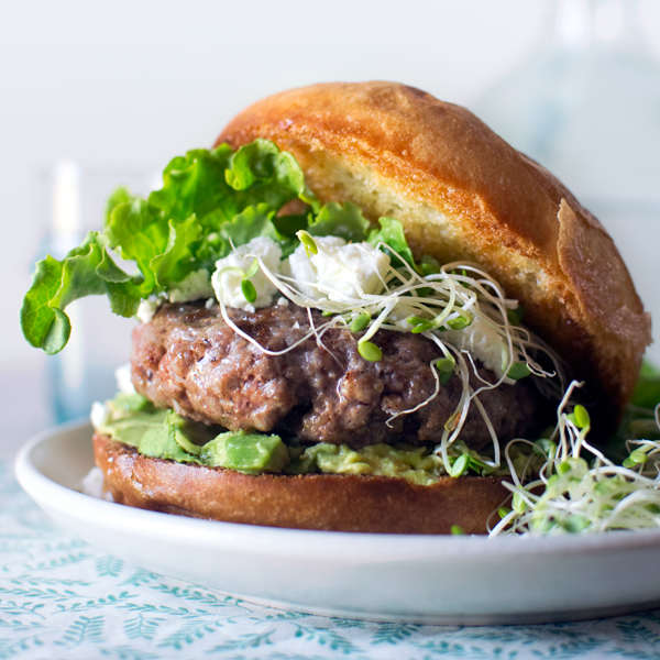 Lamb Burgers with Goat Cheese and Avocado | Fork Kife Swoon