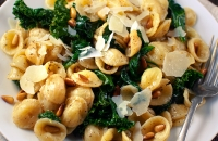 Orecchiette with Spinach and Kale | Fork Knife Swoon
