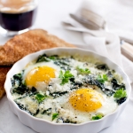 Baked Eggs with Spinach and Swiss Chard | Fork Knife Swoon