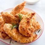 Crisypy Baked Chicken Tenders with Rosemary and Parmesan | Fork Knife Swoon