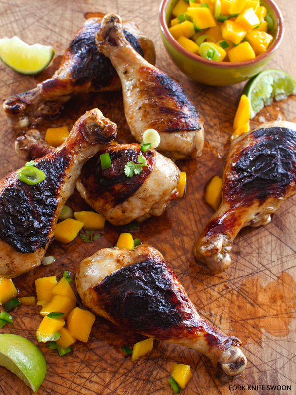 Grilled Chicken with Mango Salsa   Fork Knife Swoon