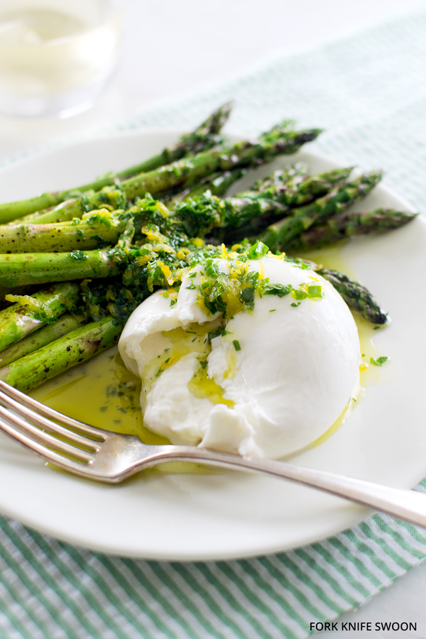 Quick Roasted Asparagus with Burrata and Gremolata   Fork Knife Swoon