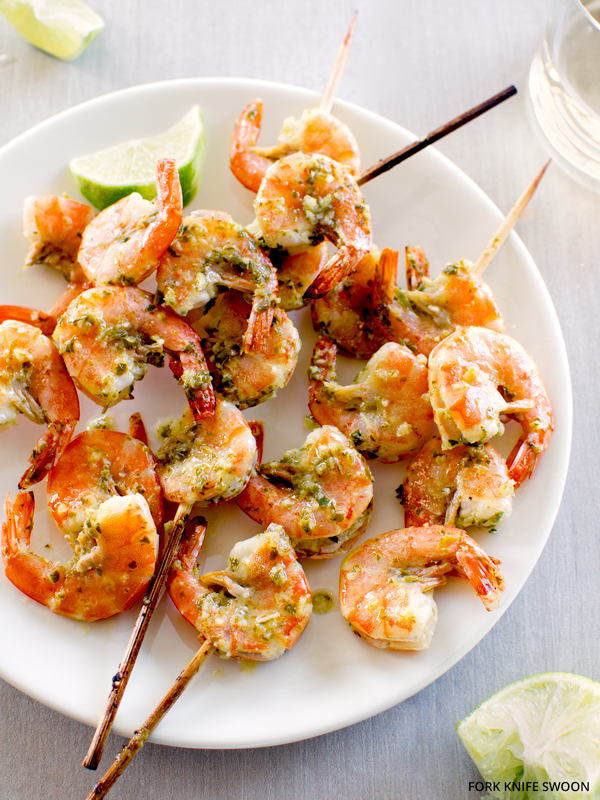 Chile Lime Shrimp Skewers | Fork Knife Swoon