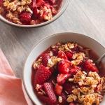 Strawberry Oatmeal Almond Crisp | Fork Knife Swoon