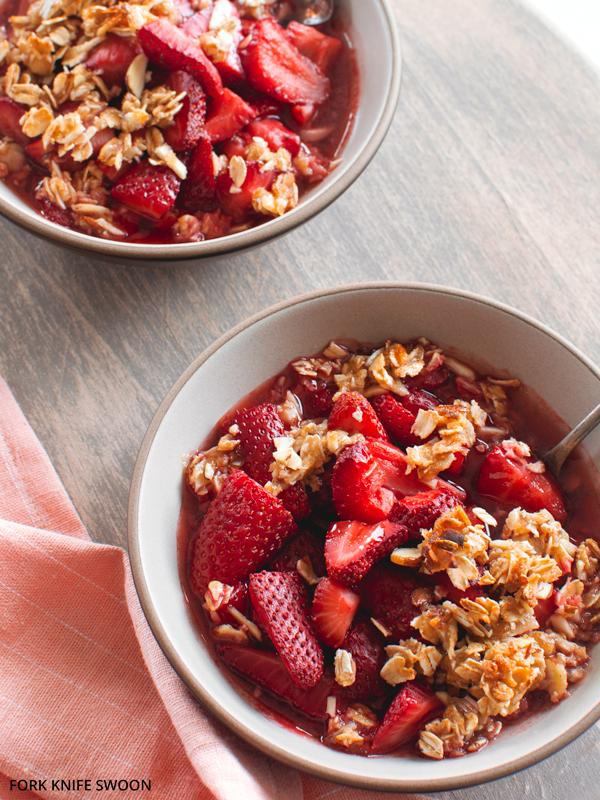 Strawberry Oatmeal Almond Crisp   Fork Knife Swoon