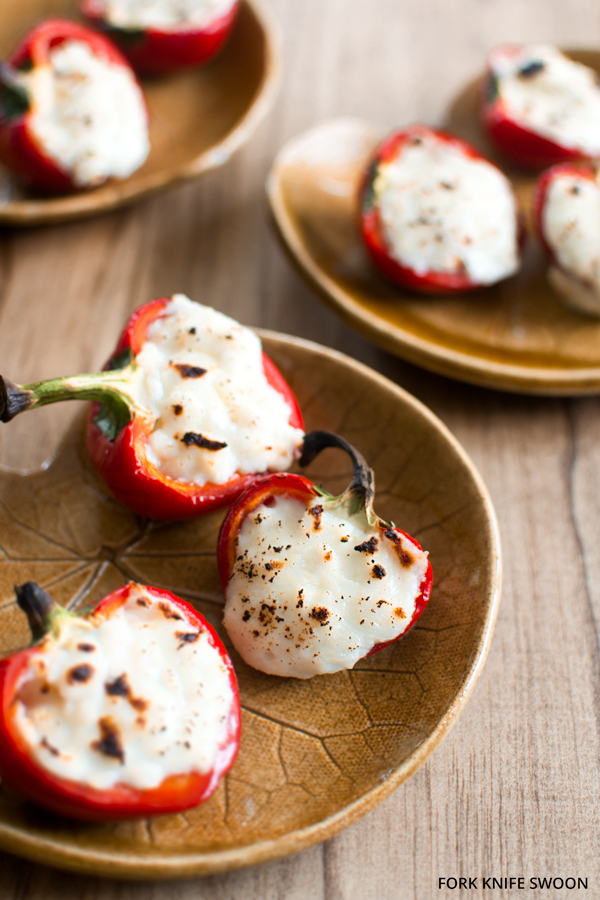 Goat Cheese Stuffed Cherry Peppers | Fork Knife Swoon
