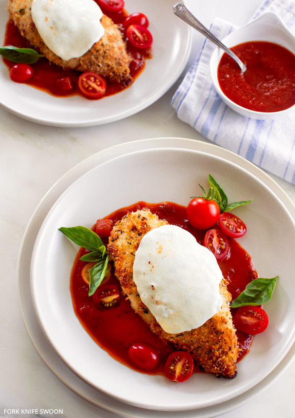Baked Chicken Parmesan | Fork Knife Swoon