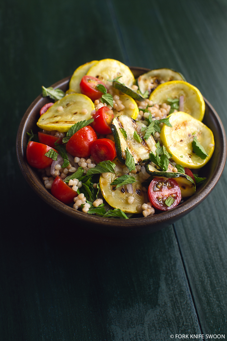 Grilled Summer Squash and Couscous Salad | Fork Knife Swoon