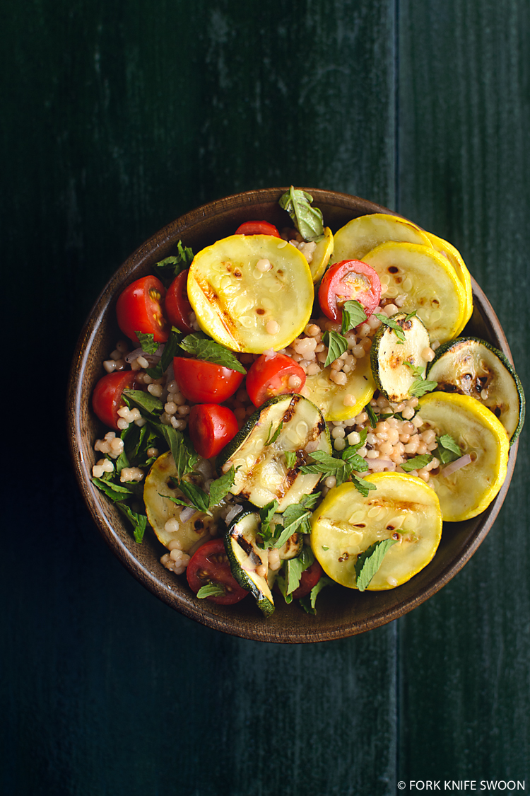 Grilled Summer Squash and Couscous Salad   Fork Knife Swoon