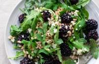 Blackberry, Farro and Arugula Salad   Fork Knife Swoon