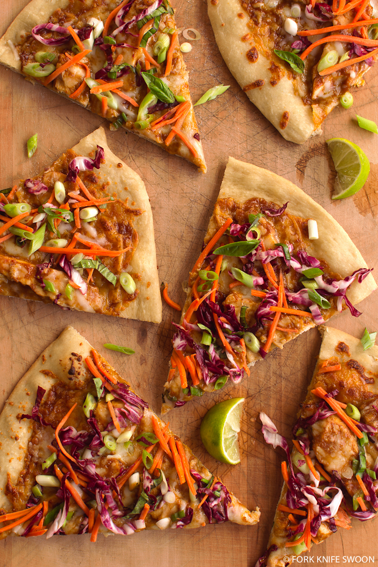 Thai Chicken Pizza | Fork Knife Swoon