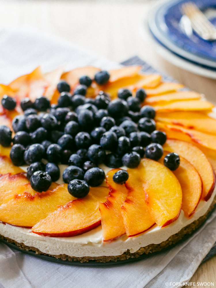 No-Bake Cheesecake with Nectarines and Blueberries - Fork ...