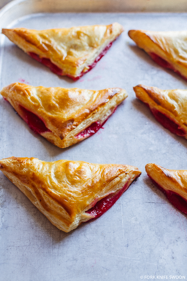 Cranberry Pear Puff Pastry Turnovers   Fork Knife Swoon