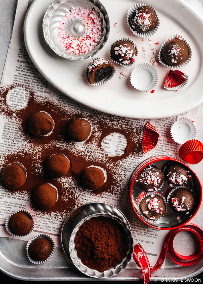 Dark Chocolate Peppermint Oreo Cookie Balls   Fork Knife Swoon