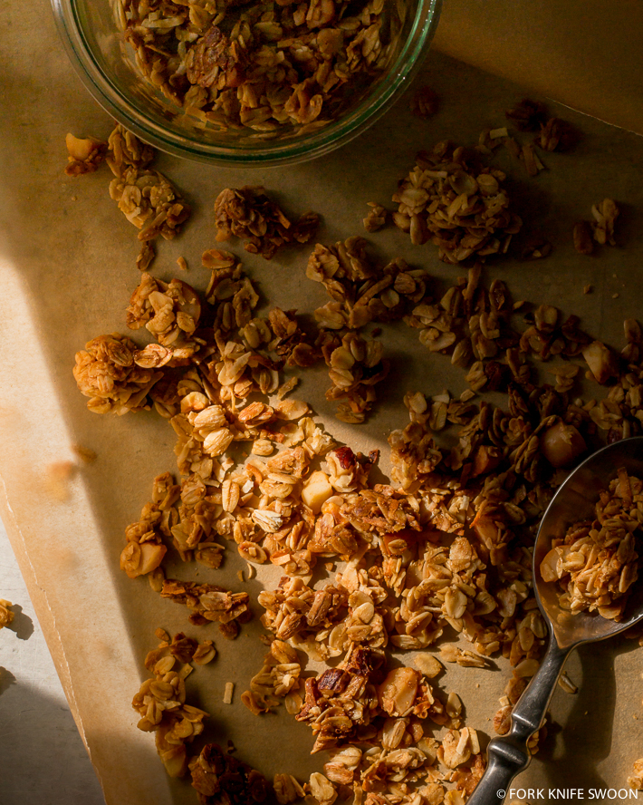 Homemade Maple Cinnamon Granola | Fork Knife Swoon