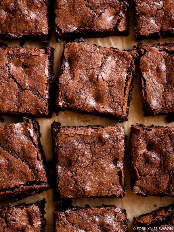 Whole-Grain Triple Dark Chocolate Brownies | Fork Knife Swoon