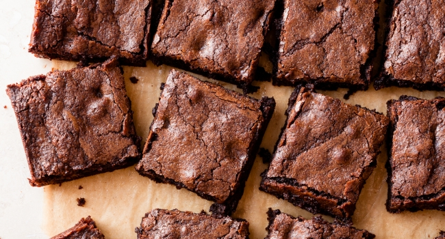 Triple Dark Chocolate Whole Grain Brownies