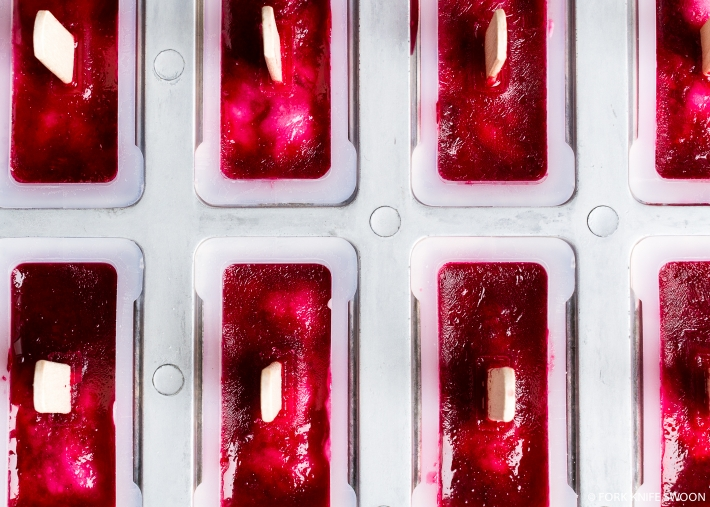 Creamy Coconut and Blood Orange Popsicles | Fork Knife Swoon
