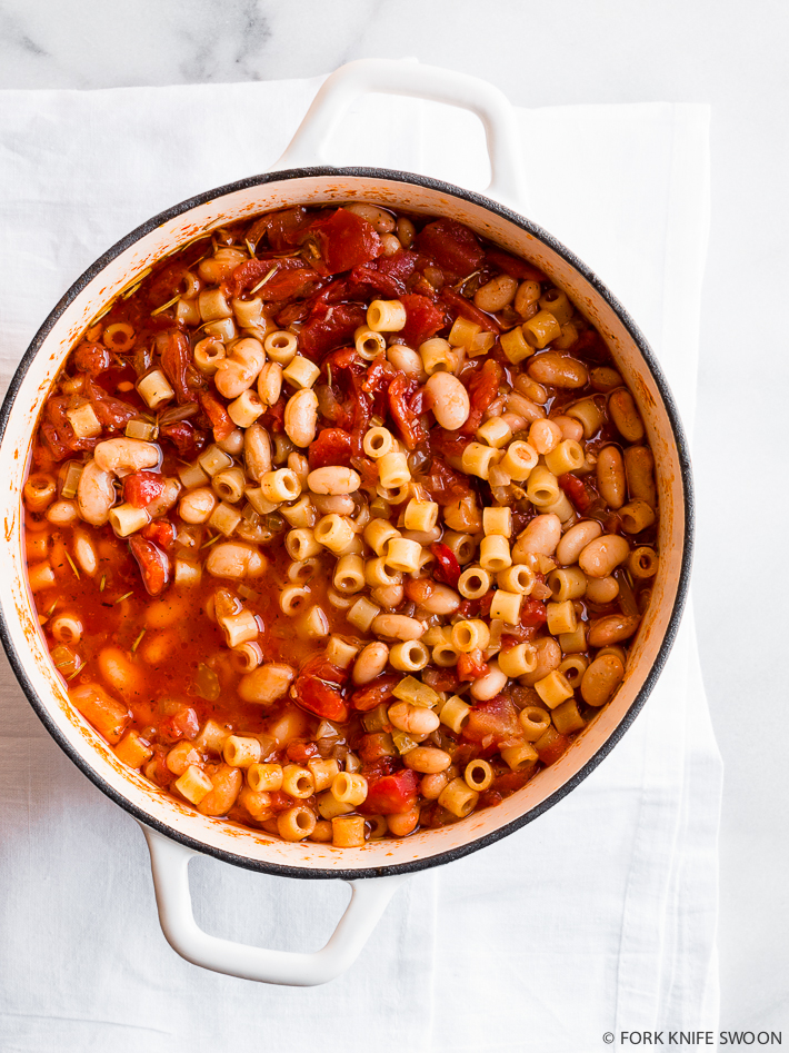 Tomato and White Bean Stew with Ditalini | Fork Knife Swoon
