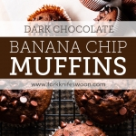 Easy One Bowl Dark Chocolate Banana Muffins via forkknifeswoon.com