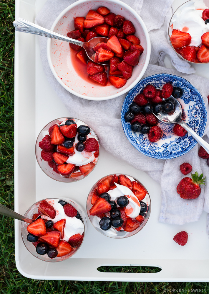 Coconut Whipped Cream and Berry Parfaits | Fork Knife Swoon