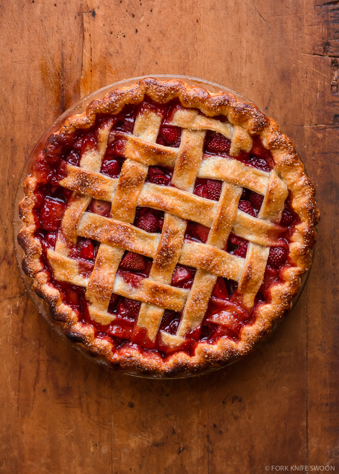 Lattice Top Strawberry Pie | Fork Knife Swoon @forkknifeswoon