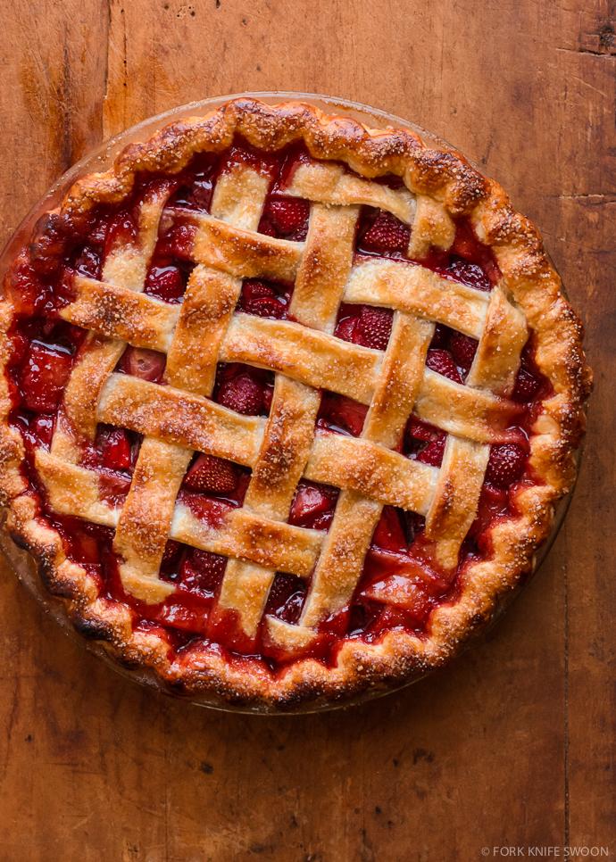 Lattice Top Strawberry Pie   Fork Knife Swoon @forkknifeswoon