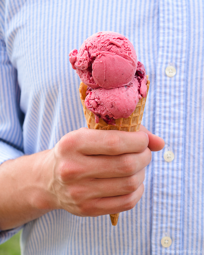 Cherry Berry Swirl Frozen Yogurt   Fork Knife Swoon