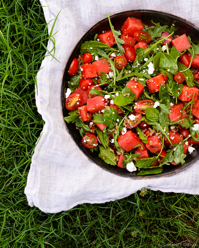 Tomato and Watermelon Salad | Fork Knife Swoon